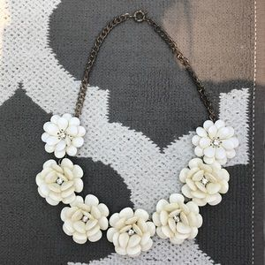 White flower statement necklace - J. Crew inspired